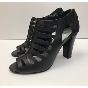 Tahari Caged Peep Toe Lindy Heels 8.5